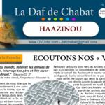 Haazinou – Veille de Yom Kippour